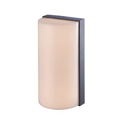 Ημικυκλική στεγανή απλίκα αλουμινίου LED 20x10cm