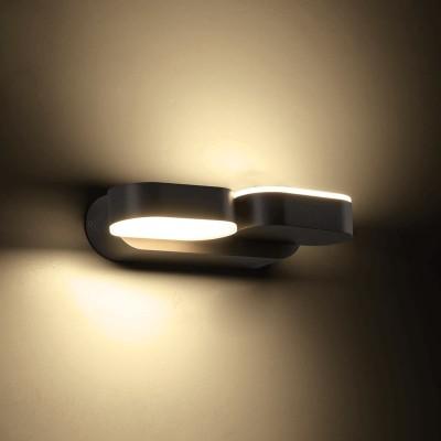 Απλίκα LED 23cm με δύο περιστρεφόμενες κεφαλές