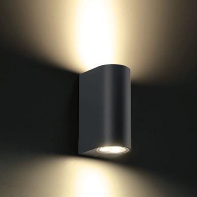 Στεγανή ημικυκλική απλίκα LED Up&Down