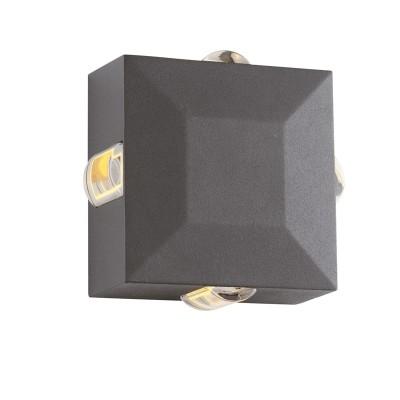 Στεγανή απλίκα 12x12cm LED τετραπλής φωτεινής κατεύθυνσης