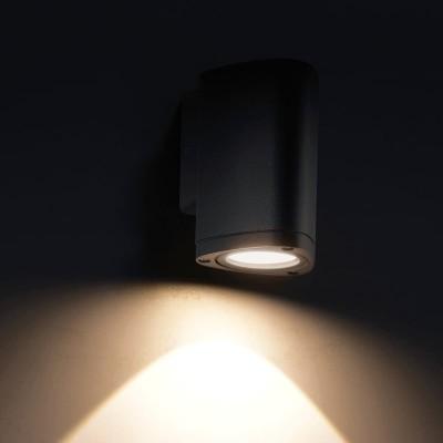 Στεγανή απλίκα αλουμινίου LED Down Ø10cm