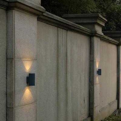 Στεγανή απλίκα αλουμινίου LED Up&Down Ø10cm