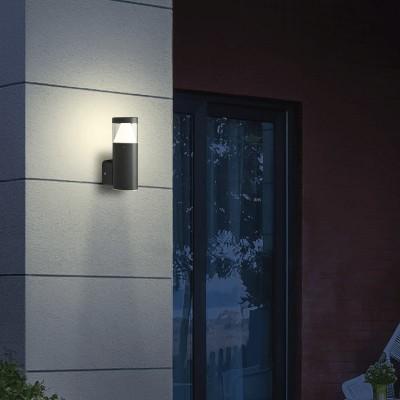 Στεγανή κυλινδρική απλίκα ύψους 20cm LED 340⁰