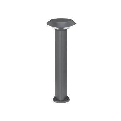 Κολωνάκι αλουμινίου LED Ø18.6cm σκούρο γκρι