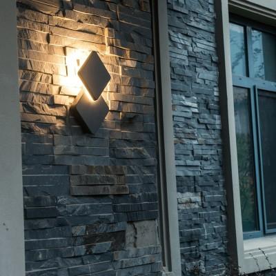Στεγανή απλίκα LED 14x14cm decor