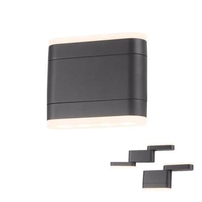 Στεγανή απλίκα LED 14x13cm με κινούμενες κεφαλές