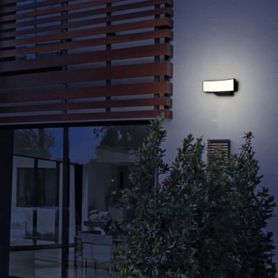 Στεγανή απλίκα αλουμινίου LED με καμπύλη 11x28.5cm