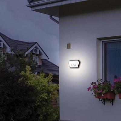 Πολυγωνική στεγανή απλίκα αλουμινίου LED 13x24cm