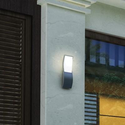 Κυματιστή στεγανή απλίκα αλουμινίου LED 27cm