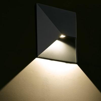 Μεταλλική στεγανή απλίκα 18x19cm LED