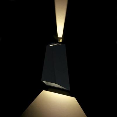 Ανθρακί τριγωνική απλίκα LED Up&Down