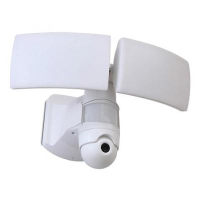 Λευκός προβολέας με ανιχνευτή κίνησης και κάμερα