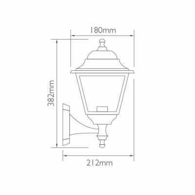 Πλαστικό τετράγωνο επίτοιχο φανάρι Ø18cm