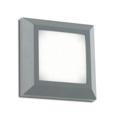 Τετράγωνη στεγανή απλίκα LED 3000Κ