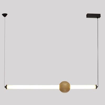 Γραμμικό φωτιστικό 95cm με ξύλινο γλόμπο