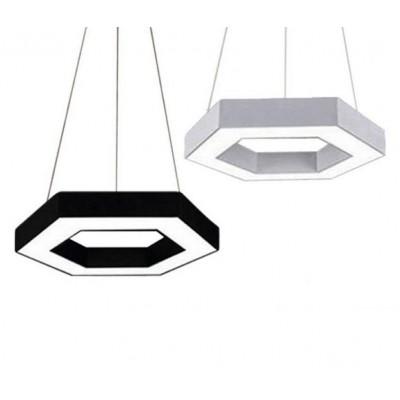 Κρεμαστό φωτιστικό LED εξάγωνο Ø60cm