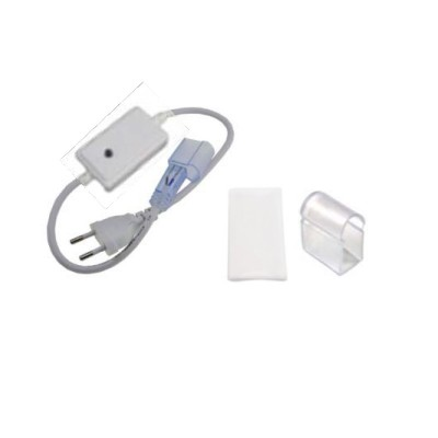 Manual controller+7cm θερμοσυστελλόμενο διάφανο σωληνάκι για strip129 μέχρι 50m