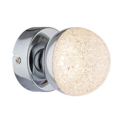 Απλίκα LED με γυάλινο κρυσταλιζέ γλόμπο Ø8cm