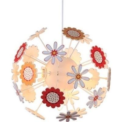 Τετράφωτο παιδικό φωτιστικό κρεμαστό με λουλούδια Ø35cm