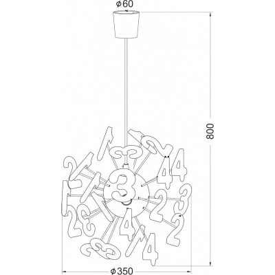 Τρίφωτο παιδικό φωτιστικό κρεμαστό με αριθμούς Ø35cm