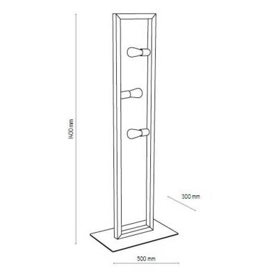 Ξύλινο ορθογώνιο τρίφωτο δαπέδου 140cm