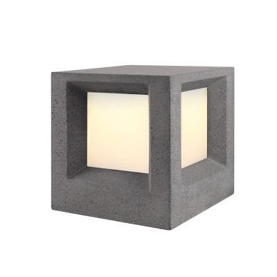 Τσιμεντένιος κύβος δαπέδου 20x20cm μονόφωτος Ε27
