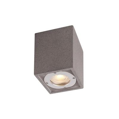 Στεγανό φωτιστικό οροφής τσιμεντένιο 9x9x13cm
