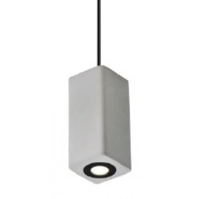 Ορθογώνιο κρεμαστό φωτιστικό LED από τσιμέντο 5x5x10cm