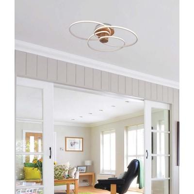 Ελικοειδές φωτιστικό οροφής LED Ø80cm