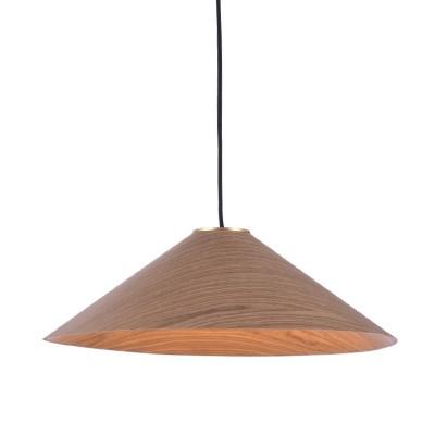 Κρεμαστό φωτιστικό με ξύλινο καπέλο Ø36cm