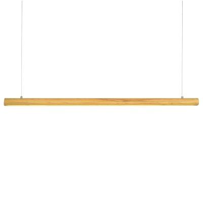 Κρεμαστό φωτιστικό LED ξύλινο 120cm κυλινδρικό Ø5cm