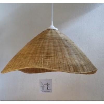 Κρεμαστό φωτιστικό Ø47cm με πλέξη από μπαμπού