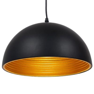 Μοντέρνο Κρεμαστό Φωτιστικό Μονόφωτο Μαύρο Μεταλλικό Καμπάνα Ø30cm