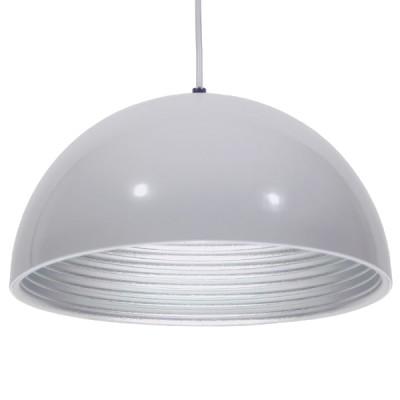 Μοντέρνο Κρεμαστό Φωτιστικό Μονόφωτο Λευκό Μεταλλικό Καμπάνα Ø30cm