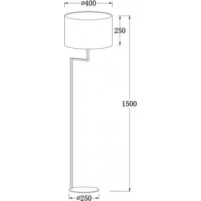 Λευκό φωτιστικό δαπέδου με καπέλο Ø40cm ACA