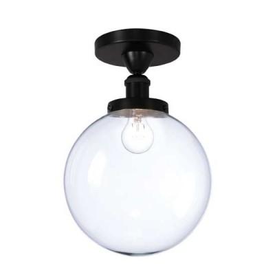 Φωτιστικό οροφής με γυάλινη διάφανη μπάλα Ø25cm