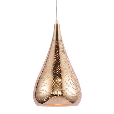 Τριγωνικό μαροκινό κρεμαστό φωτιστικό Φ23x43cm