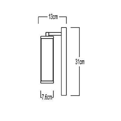 Στεγανή απλίκα μονόφωτη E27 διπλής τοποθέτησης 31x13cm
