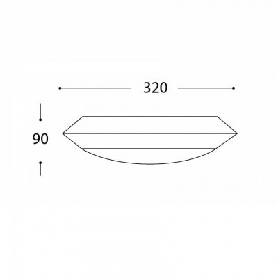Στεγανή πλαφονιέρα Ø32cm από PC/ABS