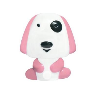 Παιδικό φωτάκι νυκτός με διακόπτη On/Off σκυλάκι ροζ