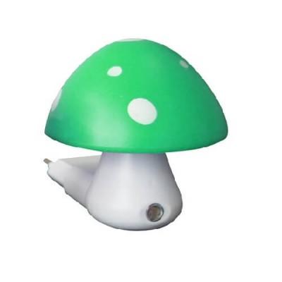 Παιδικό φωτάκι νυκτός με φωτοκύτταρο μανιτάρι πράσινο