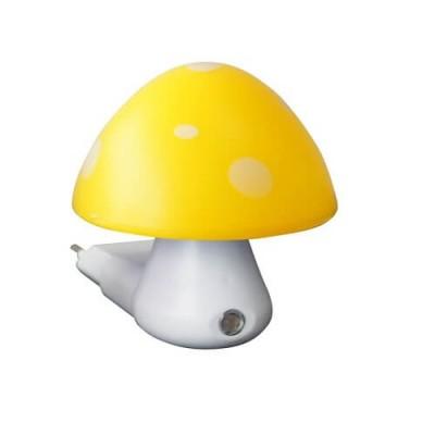 Παιδικό φωτάκι νυκτός με φωτοκύτταρο μανιτάρι κίτρινο