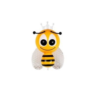 Παιδικό φωτάκι νυκτός μελισσούλα LED RGB με φωτοκύτταρο