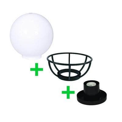 Στεγανή μπάλα δαπέδου Ø30cm με γρίφα και στεφάνι