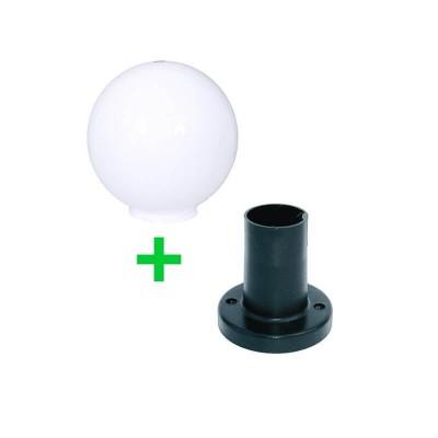 Στεγανή μπάλα δαπέδου Ø20cm με βάση 12cm