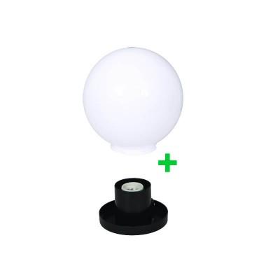 Στεγανή μπάλα δαπέδου Ø30cm με γρίφα και ντουί πορσελάνης