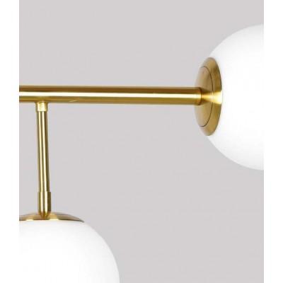 Χρυσαφί κρεμαστό εξάφωτο 110cm με γλόμπους