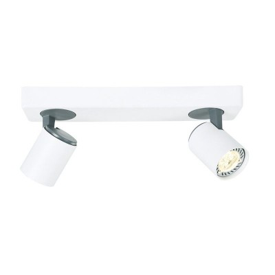 Σποτ οροφής δίφωτο λευκό 32cm