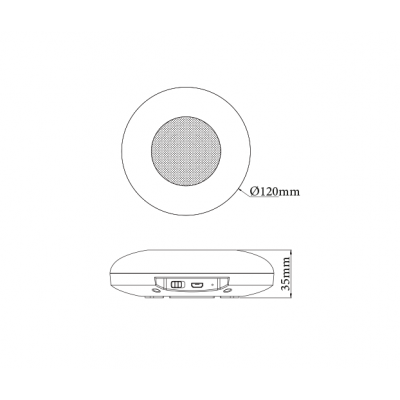 Μουσικό κουτί με ηχείο LED RGB αφής