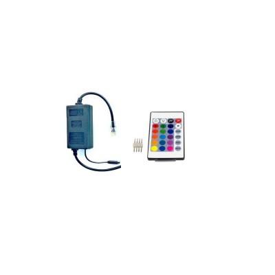 Remote controller+7cm θερμοσυστελλόμενο διάφανο σωληνάκι για strip129 μέχρι 50m